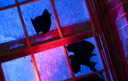 Сломленное стеклянное злодеяние Стоковые Фото