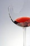 сломленное стеклянное красное вино Стоковые Фотографии RF