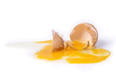 сломленное яичко Стоковые Изображения RF