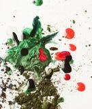 сломленные падения eye тени ногтя лака Стоковая Фотография