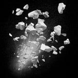 Сломленные твердые частицы стоковая фотография