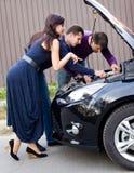 Сломленный автомобиль стоковые фотографии rf
