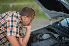 Сломленный автомобиль Стоковое Изображение RF