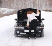 сломленный автомобиль Стоковые Изображения