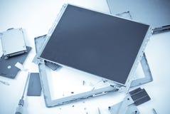 сломленный дисплей lcd Стоковое Изображение RF