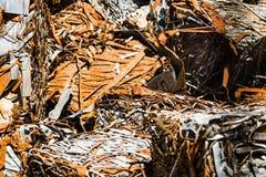 Сломленный и заржаветый металлический лист Стоковые Фото