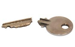 сломленный ключ Стоковая Фотография RF