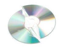сломленный компактный диск Стоковые Фотографии RF