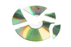 сломленный компактный диск Стоковое Изображение RF