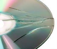 сломленный компактный диск Стоковые Изображения