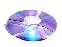 сломленный компактный диск Стоковое фото RF