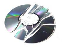 сломленный компактный диск r Стоковые Фото