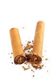 сломленный кубинец сигары Стоковые Фотографии RF