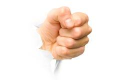 сломленный кулачок вне завертывает пунш в бумагу Стоковое Изображение RF