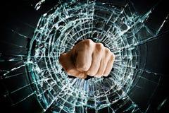 Сломленный кулачок окна стоковые фотографии rf