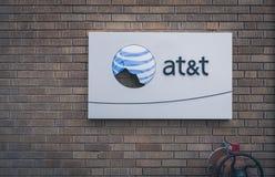 Сломленный логотип AT&T Стоковые Изображения RF