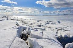 сломленный льдед Стоковая Фотография RF