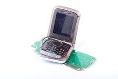 сломленный мобильный телефон Стоковая Фотография