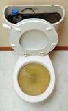 сломленный переполняя туалет Стоковое фото RF