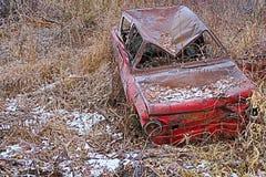 Сломленный русский автомобиль стоковая фотография rf