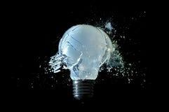 сломленный светильник стоковые изображения rf