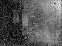 Сломленный стеклянные конспект и предпосылка черно-белые стоковое изображение