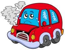 сломленный шарж автомобиля Стоковая Фотография