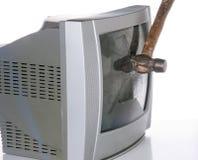 Сломленный TV Стоковая Фотография RF