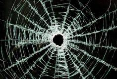 сломленный windscreen стекла автомобиля Стоковое Изображение RF