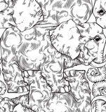 слоны делают по образцу безшовное Стоковое Изображение