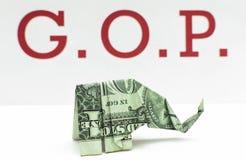 Слон денег GOP стоковые фотографии rf