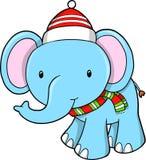 Слон рождества   иллюстрация штока