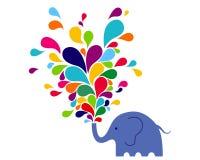 слон счастливый Стоковая Фотография RF