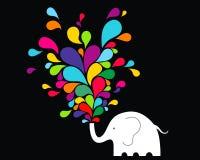 слон счастливый Стоковое Изображение RF