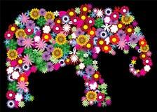 слон флористический Стоковые Фото