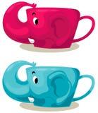 слон чашки Стоковые Фотографии RF