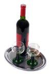 служят вино Стоковое фото RF