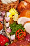 служят мясо, котор Стоковая Фотография