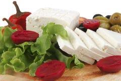служят среднеземноморское обеда, котор Стоковое Фото