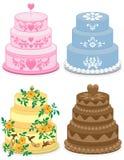 случаи тортов причудливые Иллюстрация штока