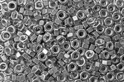 случайно разбрасываемые гайки предпосылки Стоковая Фотография RF