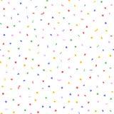 Случайно разбрасываемый красочный confetti Праздничная безшовная картина иллюстрация штока