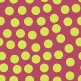 Случайные разбросанные точки польки белят розовое безшовное известью иллюстрация штока