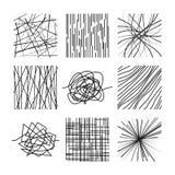 Случайные хаотические несимметричные линии Абстрактные современные линейные установленные картины вектора иллюстрация вектора