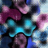 Случайный точечный растр польки иллюстрация вектора