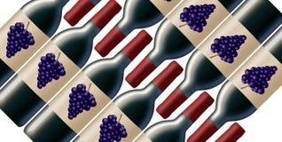Случай 12 бутылок красного вина показан в этом изображении иллюстрация штока