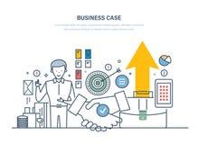 Случай дела, исследование вклада, предложения Анализ цен, преимуществ, рисков иллюстрация штока