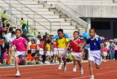 Случай дня спорта малышей стоковая фотография