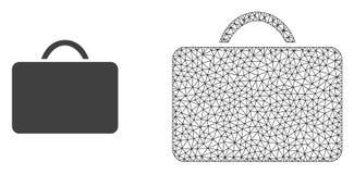 Случай сетки вектора полигональный и плоский значок бесплатная иллюстрация