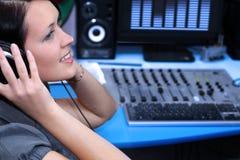 слушать в реальном маштабе времени Стоковое Изображение RF